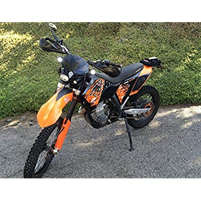 OZ-USA Flood Mini Trail Lights Led Spot Motorcycle Offroad Dual Sport En.: Automotive