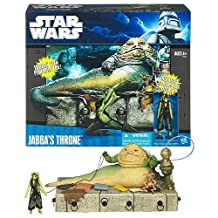 Star Wars Exclusive Jabba the Hutt's Throne Room Playset (includes Jabba, Oola, Salacious Crumb, the throne & accessories)