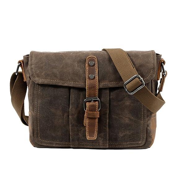 cfaf7e54ea2d PANGOIE,Men s Vintage Canvas Messenger Bag