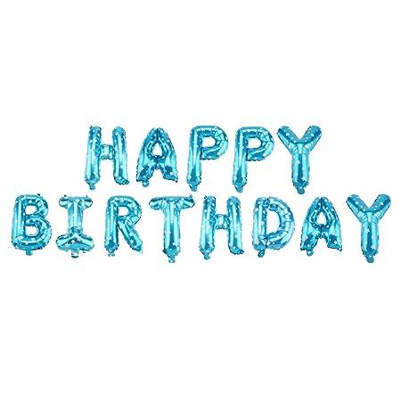 Haokaini Letras de feliz cumpleaños de 16 pulgadas, globos ...