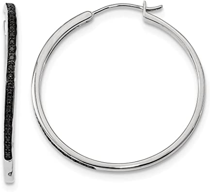 925 Sterling Silver Textured /& Polished Round Hoop Earrings 2mm x 16mm