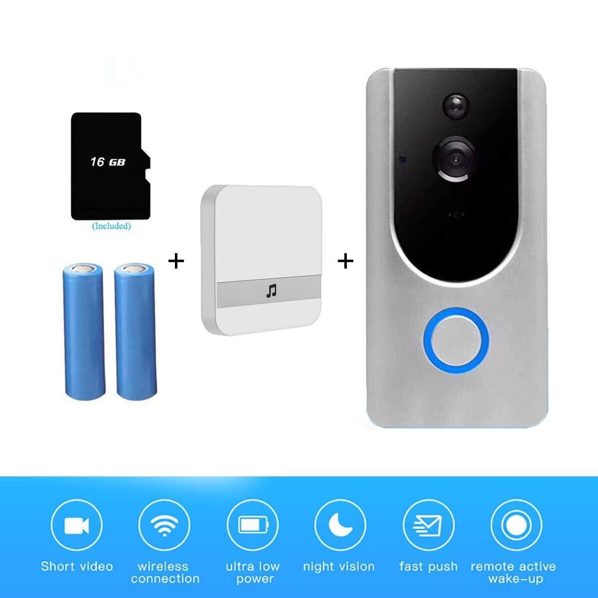 YLXD Videoportero, Video Doorbell, Wi-Fi 720P HD Timbre de ...