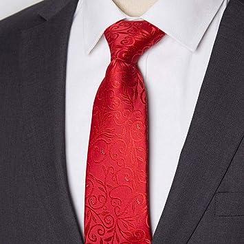 XZ Corbata de moda Corbata de hombre Corbata a rayas de 8 cm ...