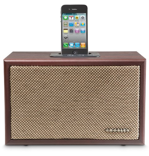 Crosley Ipod Dock (Crosley CR3011A-MA iDeco Speaker Dock for iPod (Mahogany))