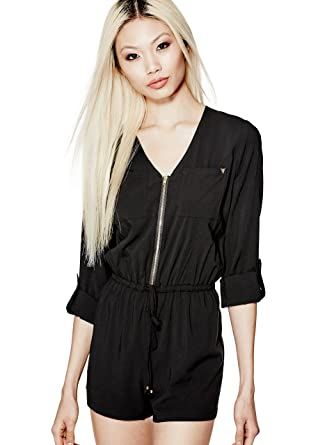 e09b1392cd9 Amazon.com  G by GUESS Aymeline Zip-Up Romper  Clothing