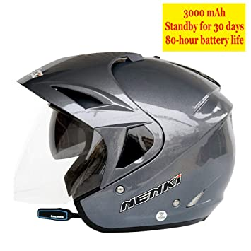 JINWEI Modular Cascos de Motocicleta Auriculares Bluetooth ...