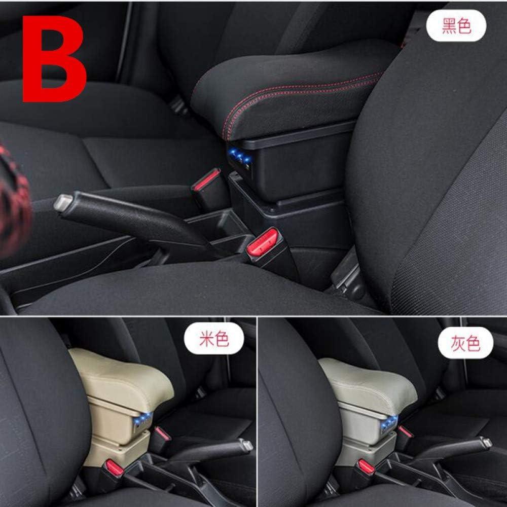 Dmwfaker Centrale Scatola immagazzinaggio Scatola bracciolo per Chevrolet Orlando la Scatola del bracciolo USB Aumenta la Carica Doppio Strato