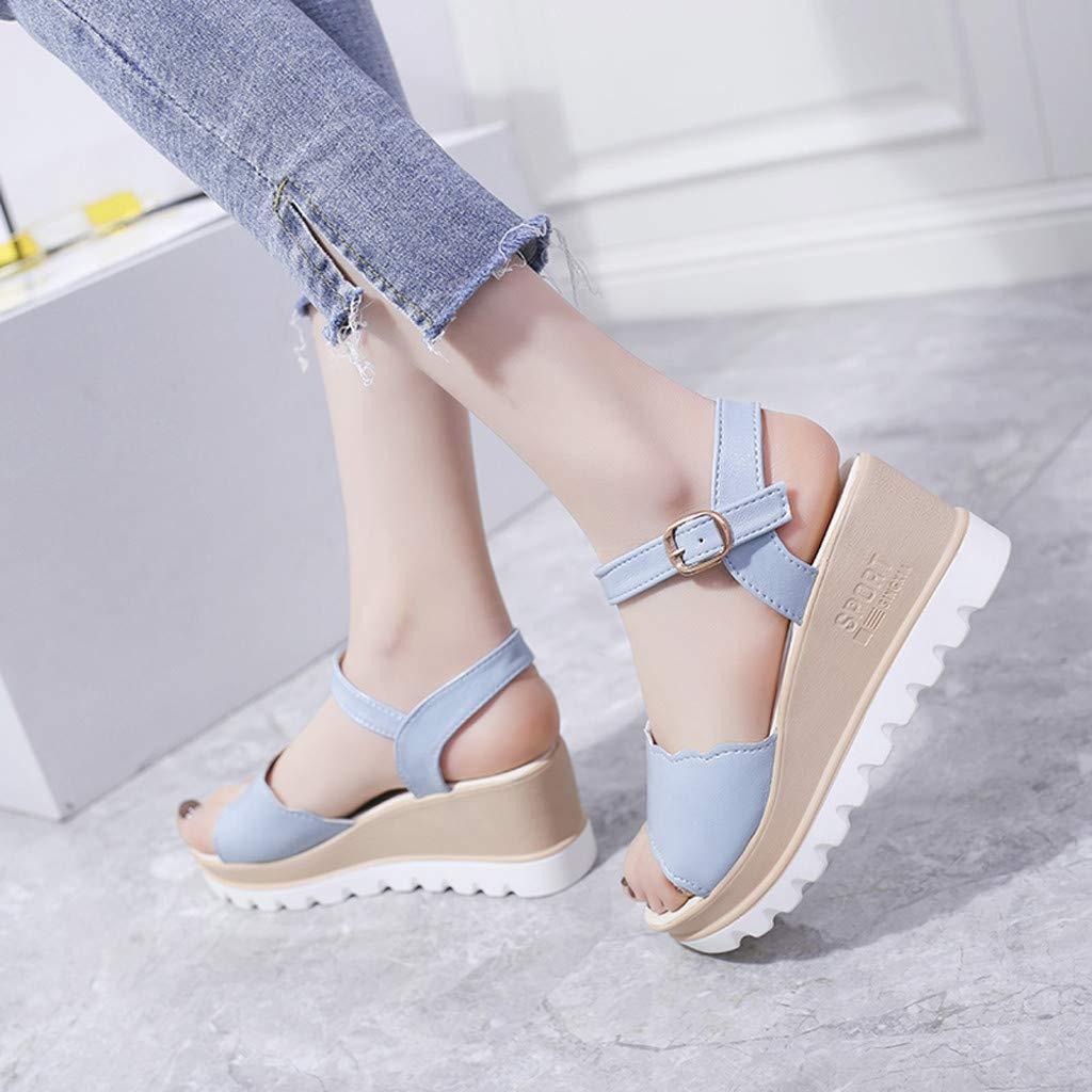 Chaussures et Sacs UINGKID Sandales dété pour Femmes,Chaussures de Plage Plates pour Femmes Sandales pour Femmes dété La Mode féminine Sandales à Talons Hauts Pantoufles Strass Dames Sandale Bouche de Poisson 36