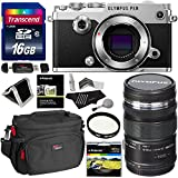 Olympus PEN-F Silver Mirrorless Micro Four Thirds Digital Camera, Olympus M.ZUIKO ED 12-50mm F3.5-6.3 EZ Lens, Transcend 16GB Memory Card, Polaroid Cleaning Kit, Ritz Gear Case, & Accessory Bundle