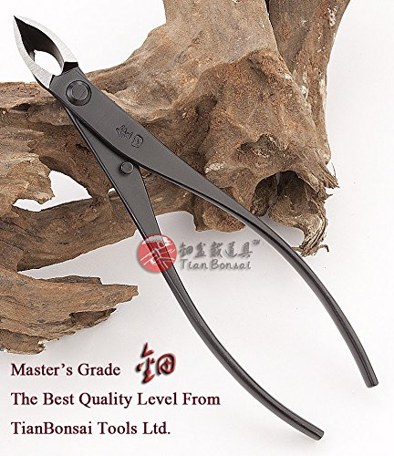 Branch Cutter Narrow Edge Cutter Bonsai Tools Concave Cutter Straight Edge Carbon Steel 180 Mm (7'') Made By Tian Bonsai by Master's Narrow Edge Cutter