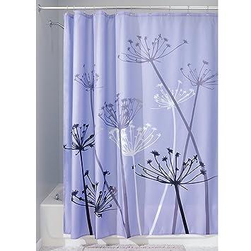 purple and gray shower curtain. InterDesign Thistle Shower Curtain  Standard Purple and Gray Amazon com