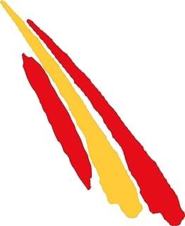 Artimagen Pegatina Bandera Trazo Largo España 110x30 mm.: Amazon.es: Coche y moto