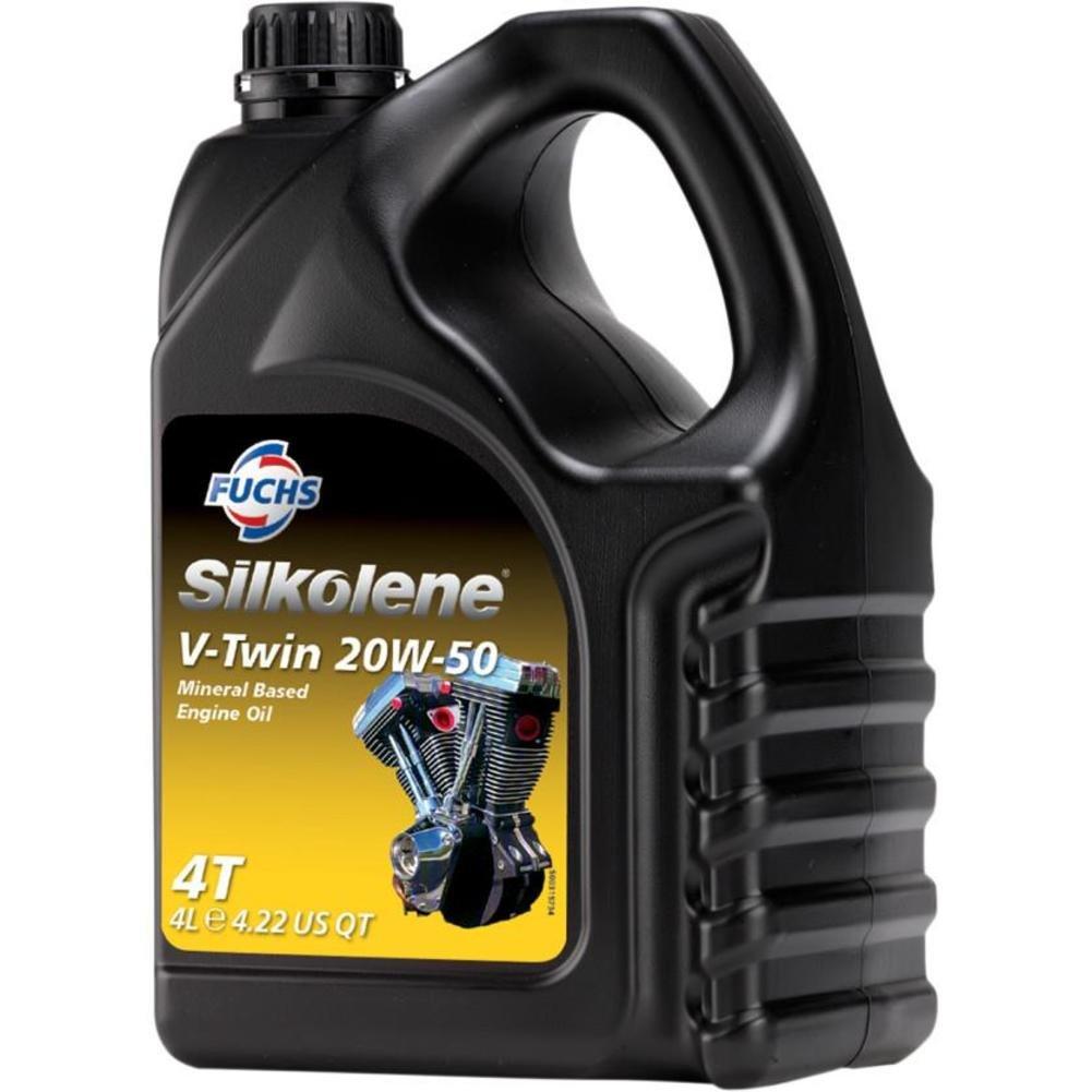3. Silkolene 600868413 V-Twin Engine Oil - 20W50 - 4L.