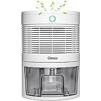 Omasi Deshumidificador electrico 600ml,Portátiles Deshumidificadores Absorben Agua 300 ml / 24 h,apagado automático…