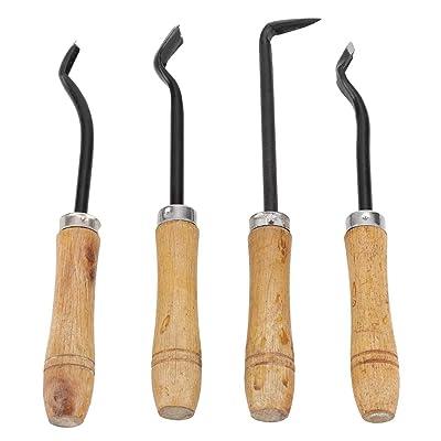 4 Pcs Bonsai Tool Set Handmade Sharp Bonsai Engraving Blade Carving Chisel Steel Garden Fruit Tree Grafting Tool Kit: Home & Kitchen