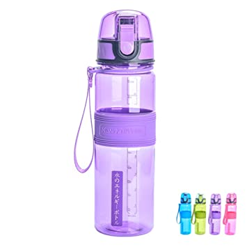 UncleBao Botella de Agua para Gimnasio Botella Plastica Sin BPA 500ML, Violeta