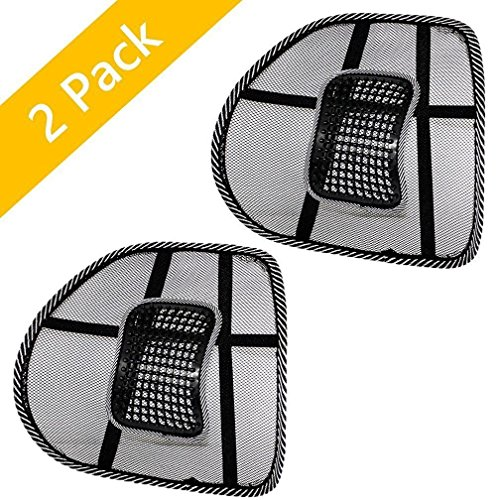 riverview Mesh Lumbar Back Brace Support Office, Home, Car Seat Chair Cushion Cool, Black
