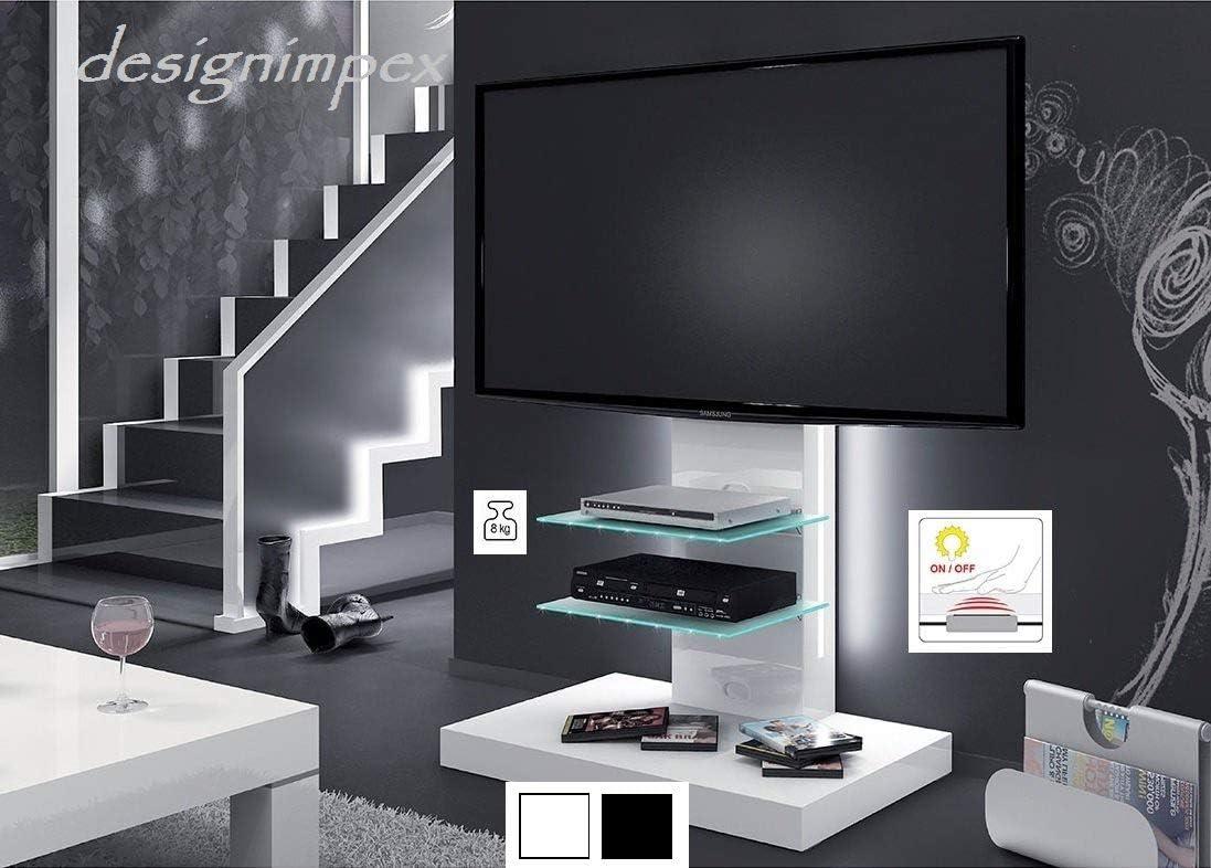 Televisión H-444 blanco brillante mesa de TV mesa para televisores LCD TV Rack incluye soporte para televisión: Amazon.es: Hogar