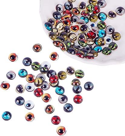 NBEADS Perline DOcchio 4 Formati Misti 80 pz Blu Perline di Murano Fatte A Mano per La Creazione di Gioielli