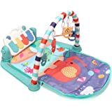 Gym Play Mat Piano OzzieProBaby&Co Large Baby Play Mat Kick and Play Piano Gym, Newborn Activity Gym Lay & Play 3 in 1…