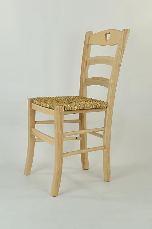 Tommychairs Set 2 sedie classiche CUORE 38 per cucina bar e sala da ...