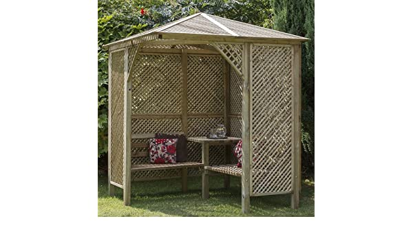 Valencia diseño de madera para jardín fixthedrip Arbour: Amazon ...