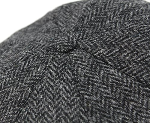 dfd03815320 Jual John Hanly Blinder Hat Wool Charcoal Herringbone Made in ...