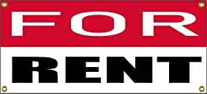 """for Rent Banner Retail Store Shop Business Sign 36"""" by 15"""" Home Residential Commercial"""