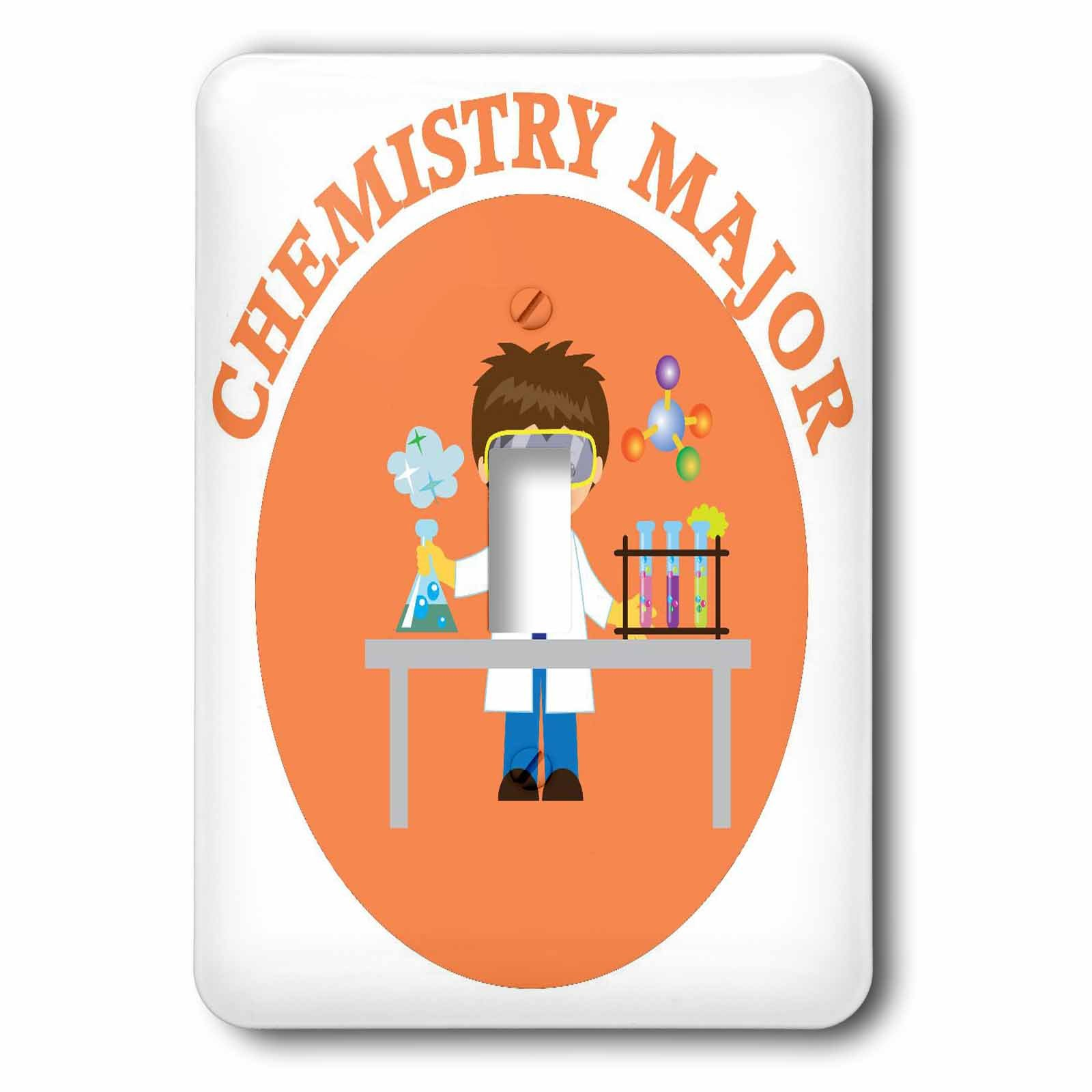 3dRose TNMGraphics School - Chemistry Major in Orange - Light Switch Covers - single toggle switch (lsp_286284_1)