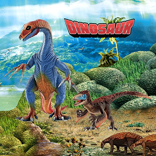 Kids Dinosaur Toys, BooTaa Dinosaur World, Large Realistic Looking Dino Action Figure Kit, Gift for 3 4 5 6 Years Old Boys Kids Toddlers, Birthday Party Game Favor,Therizinosaurus Utahraptor,Pack of 3 by BooTaa (Image #7)