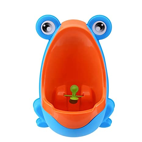 Froggy Baby Urinal - Perfect Mommys Helper for Potty Training (Sky Blue)