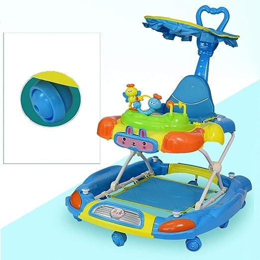 LFY Baby Walker Azul con un Mango de Empuje y una sombrilla ...