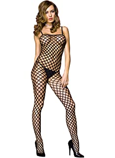70e330e2f Music Legs Womens Spandex Multi Strands Big Diamond Net Bodystocking Black  One Size 1421