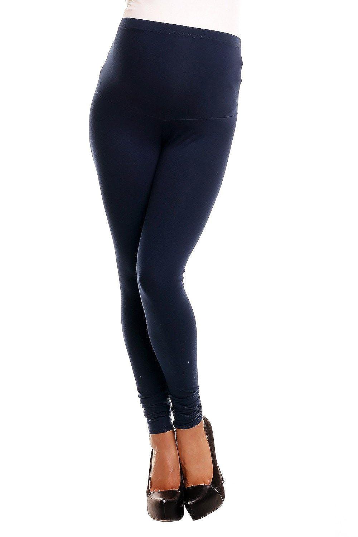 Zeta Ville - Umstandsmode Leggings Umstandshose - elastische Bund - Damen - 775c maternity_leggings_775
