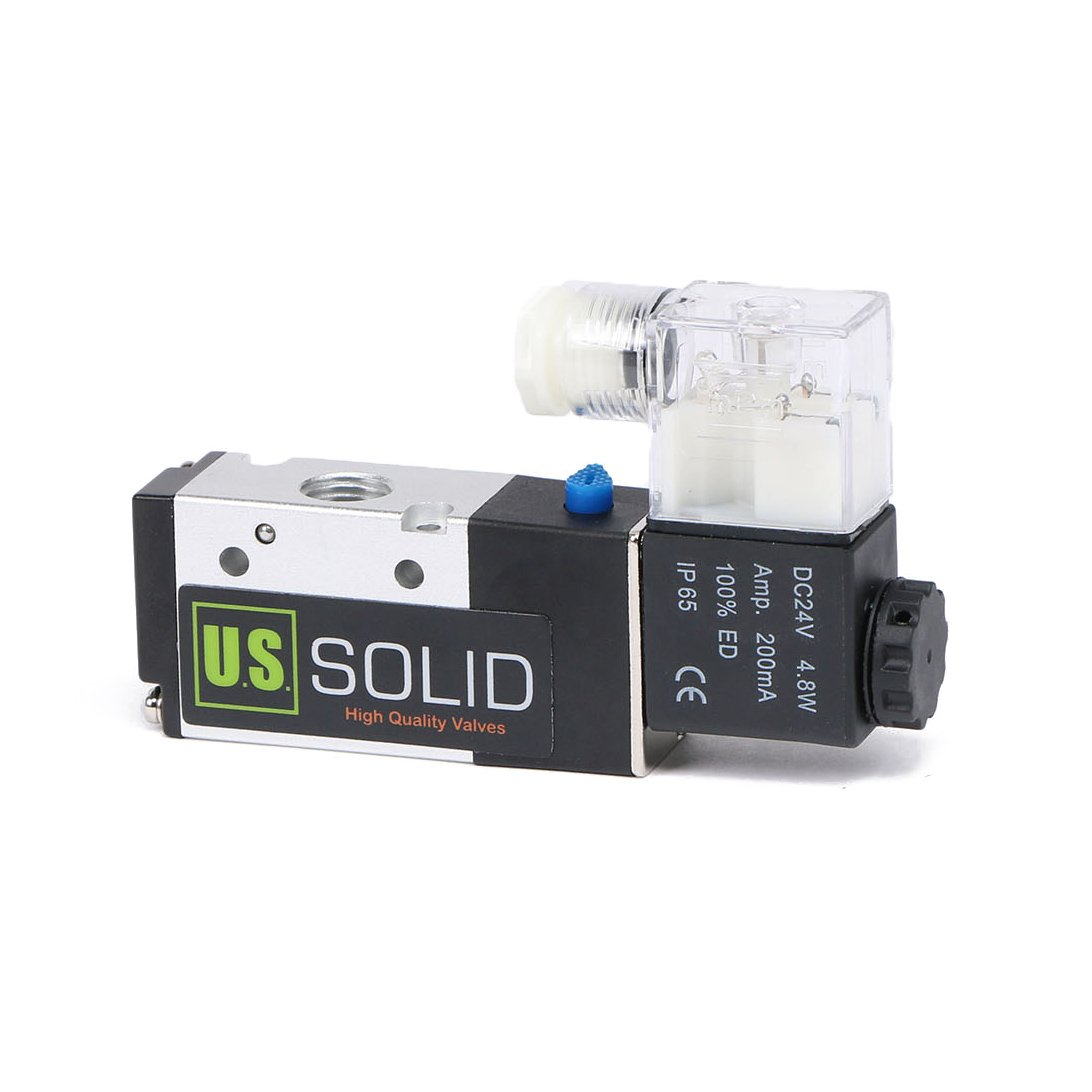 1/4'' NPT Pneumatic Electric Solenoid Valve 3 Way 2 Position DC 24V by U.S. Solid