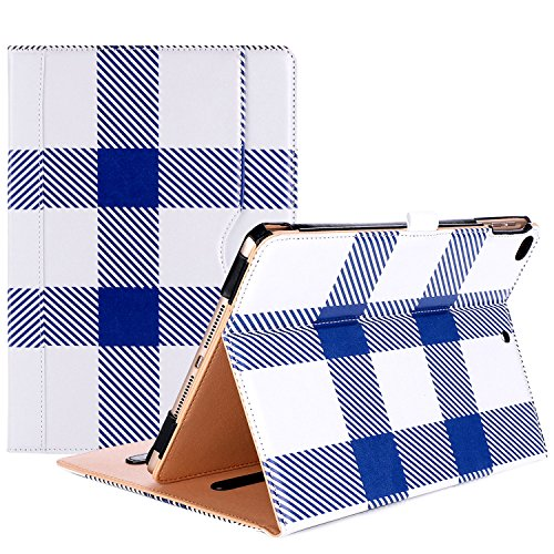 (ProCase iPad 9.7 Case 2018/2017 iPad Case - Stand Folio Cover Case for Apple iPad 9.7 inch, Also Fit iPad Air 2 / iPad Air -Plaid )