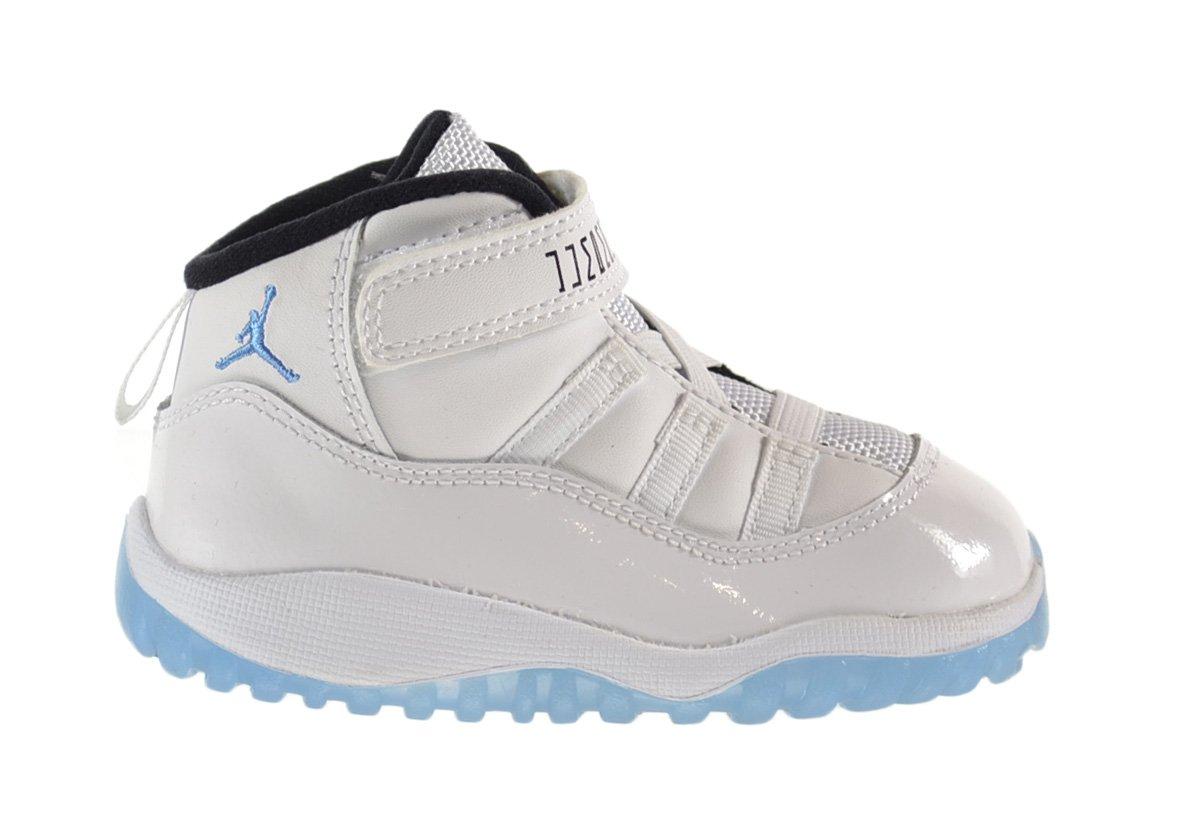 Air Jordan 11 Retro BT Baby Toddlers Shoes White/Legend Blue-Black 378040-117 (10 M US) by Jordan