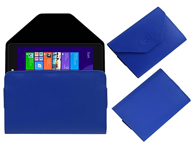 Acm Pouch Case Compatible with Notion Ink Cain 8 Flip Flap Cover Holder Blue Tablet Accessories