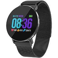 Montre Connectée Femmes Homme Etanche Smart Fitness Tracker IP68 Smartwatch avec Podomètre, Distance, Calorie, Moniteur de sommeil pour Femme Homme Enfant pour Android 4.4 ou IOS 7.1 et plus