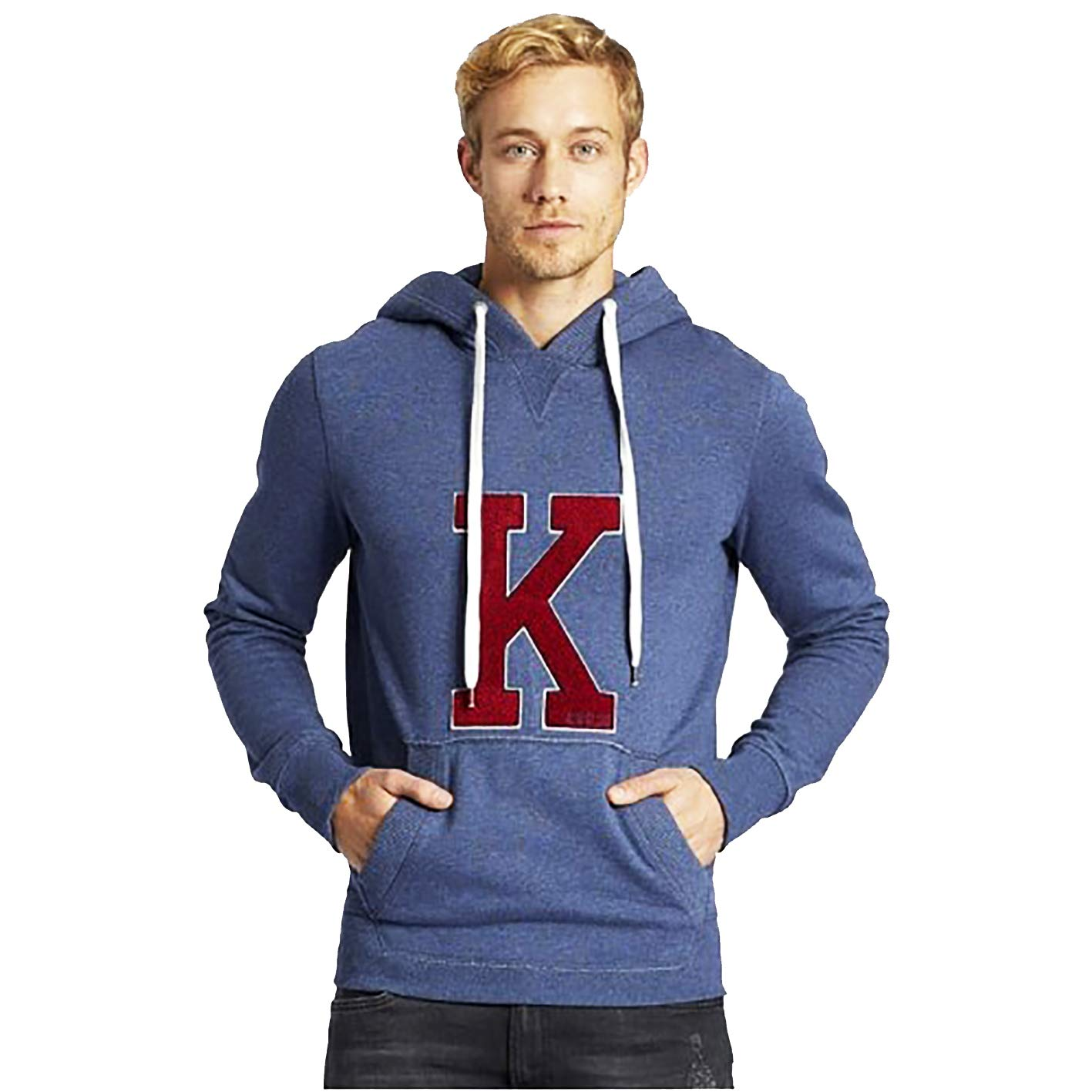 Khujo Wilford Herren Sweatshirt mit Kapuze Kapuzenpullover grau Grau Blau blau Pullover Sweater