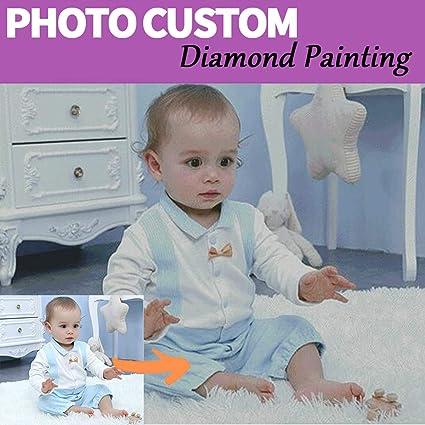GIRLSIGHT Kit di Pittura Diamante per Adulti Kit Penna per Ricamo per Cani Pittura Diamante Trapano Completo Squadra Gemma Fai da Te Art 30x30
