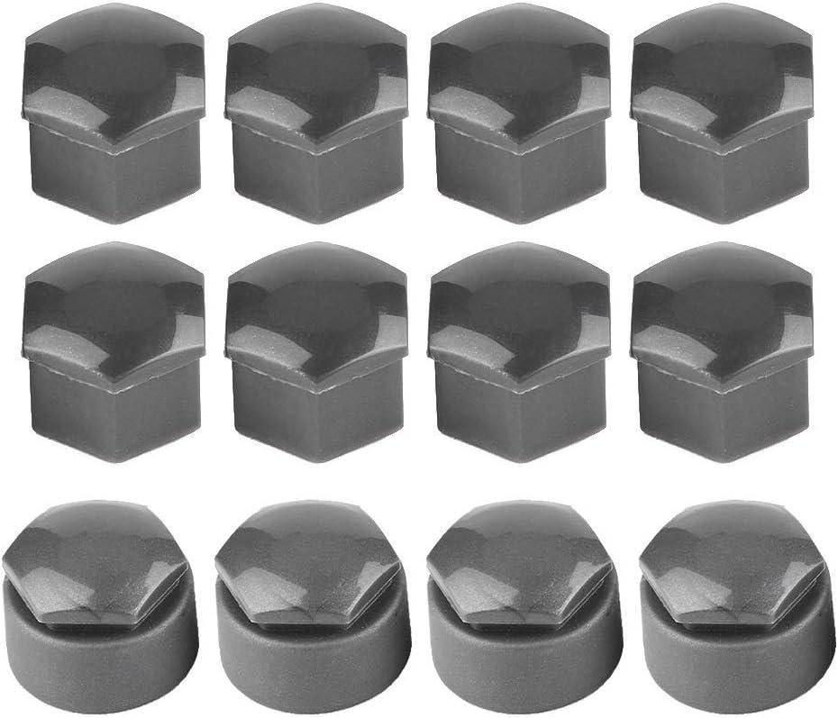 Vobor Radmutter Abdeckungen 17mm Nuss Auto-Rad-Auto Hub Schraube Schutzh/ülle Cap Kompatibel mit Audi 20pcs Farbe : Silber