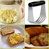Pastry Cutter Set Professional QUALITY Stainless Steel Round Cookie Biscuit Cutter set ( Dough Blender Mixer + 5 Circle Cookie Cutters Round Baking Dough Tools & Pastry Utensils in a GIFT BOX!