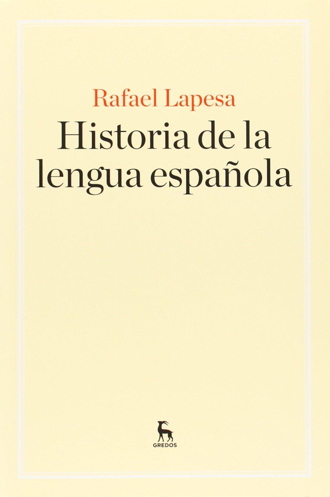 Historia de la lengua española (MANUALES): Amazon.es: Lapesa Melgar, Rafael: Libros