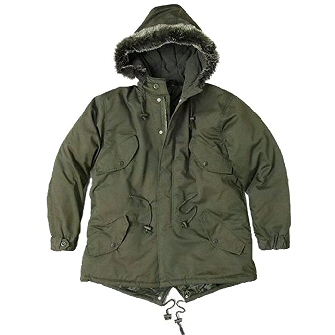 Men's Vintage Style Coats and Jackets Mod Fishtail Parka Coat/Jacket Faux Fur Hood - XS - XXL $99.95 AT vintagedancer.com