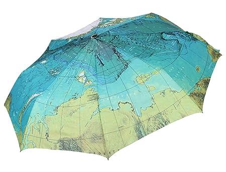creative compact folding umbrellaworld map