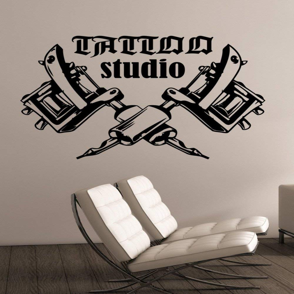 zqyjhkou Tattoo Studio Logo Tatuajes de Pared Tatuajes de Vinilo ...