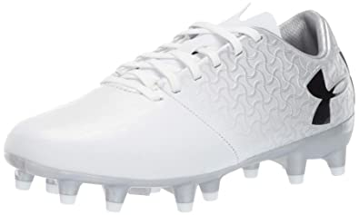 2a36a8ac6217 Under Armour Unisex-Kids Magnetico Select JR FG Soccer Shoe, White/Metallic  Silver