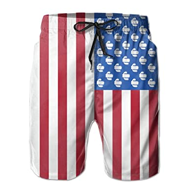 457b176a6a Amazon.com: Men's Board Shorts Cactus USA Flag Swimming Trunks Sport Pants:  Clothing