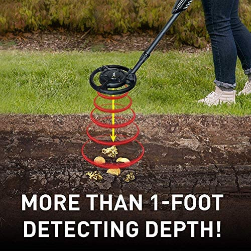 NATIONAL GEOGRAPHIC Junior Metal Detector Adjustable Metal Detector for Kids with 7.5 Waterproof Dual Coil, Lightweight Design Great for Treasure Hunting Beginners